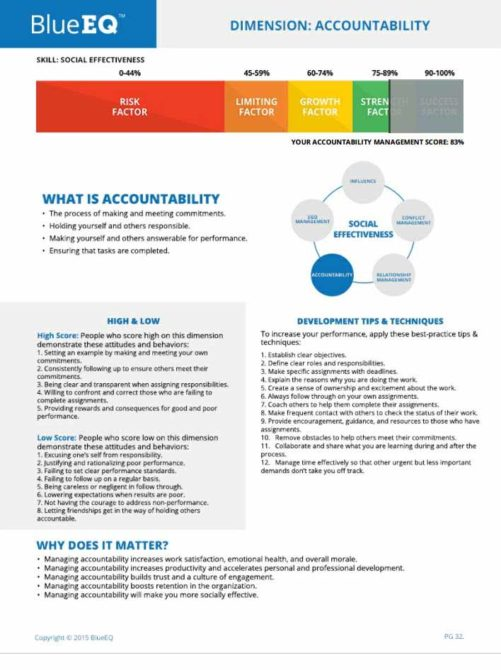 accountability emotional intelligence